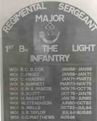 1st Bn. LI. RSM's